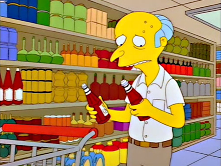 Mr. Burns, Ketchup vs. Catsup