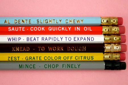 Chef's Pencil Set