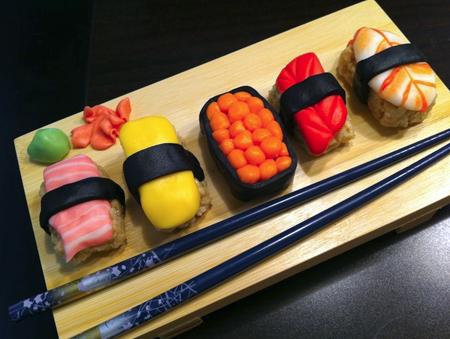 rice krispie sushi
