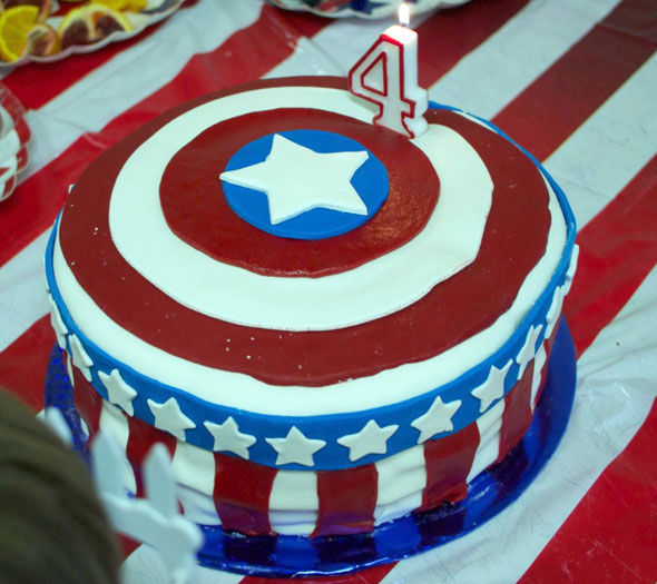 Fine This Captain America Cake Is Very American Foodiggity Funny Birthday Cards Online Elaedamsfinfo