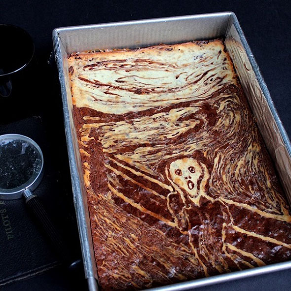 SugaryWinzy-Halloween-Scream-Cheese-and-Spider-Web-Brownies5