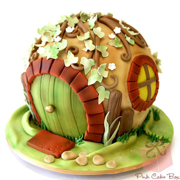 Groovy The Greatest Hobbit Hole Cake That Youll See Today Foodiggity Birthday Cards Printable Giouspongecafe Filternl