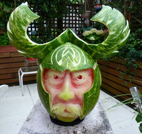 viking-watermelon-carving