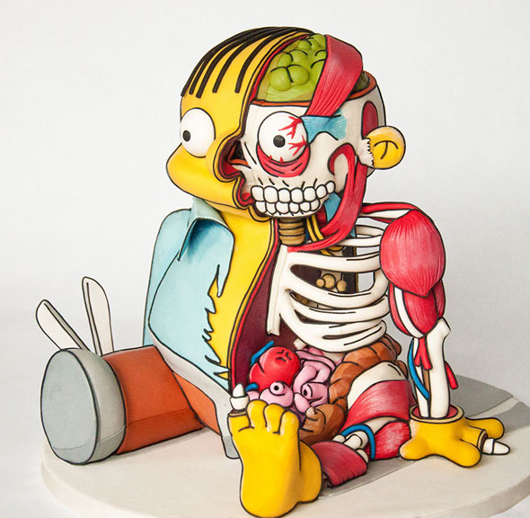 ralph-wiggum-cutout-cake