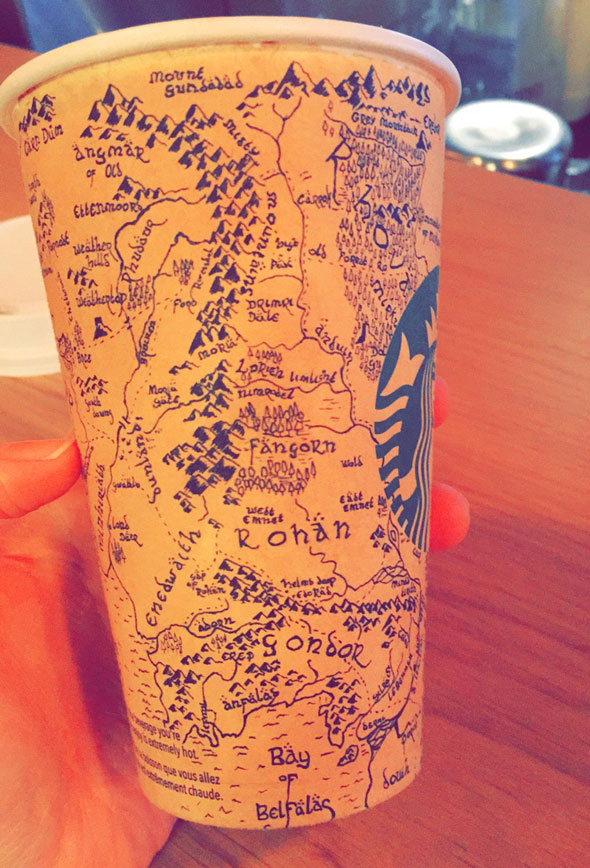 A Detailed Map of Middle Earth Drawn on A Starbucks Coffee ... on world globe map with names, map of earth with labels, map of earth with degrees, map of earth with cities, map of earth with states, map of earth with countries, map of earth with life, map of earth time,