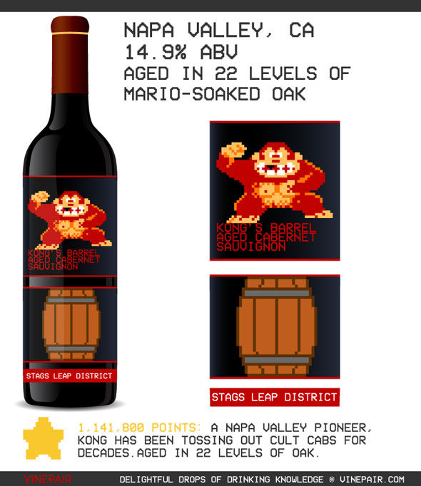 donkey-kong-wine-label-8-bit-pixel-art