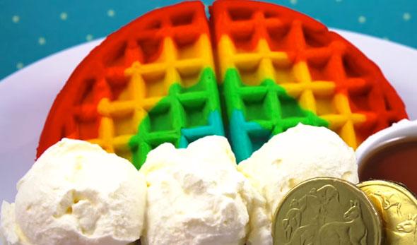 rainbow-waffles