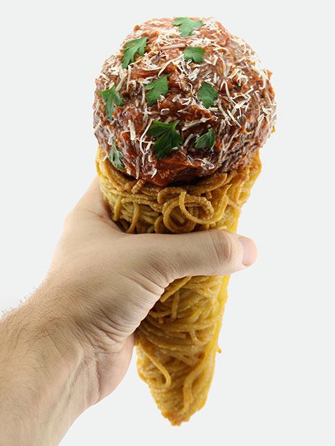 SpaghettiAndMeatballCone