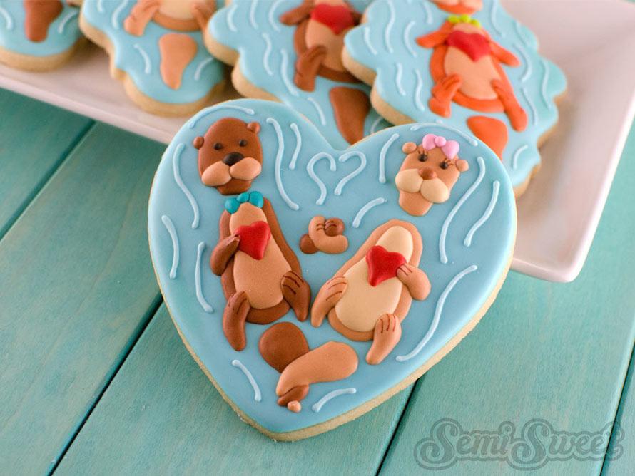 valentine-otter-cookies-heart
