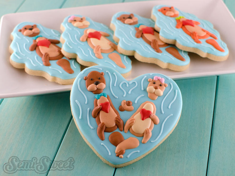 valentine-otter-cookies-title